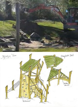 Neuer Kletterturm für den Kita-Garten